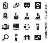 16 vector icon set   report ... | Shutterstock .eps vector #729608158