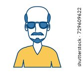 man face with glasses cartoon | Shutterstock .eps vector #729609622