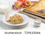 homemade apple pie with coconut ...   Shutterstock . vector #729610066