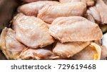 raw chicken wing marinated...   Shutterstock . vector #729619468
