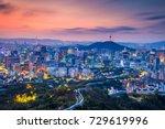 seoul. cityscape image of seoul ...   Shutterstock . vector #729619996