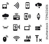16 vector icon set   notebook... | Shutterstock .eps vector #729622606