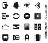 16 vector icon set   touch ... | Shutterstock .eps vector #729631885