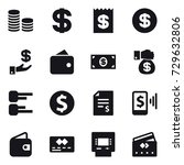 16 vector icon set   coin stack ... | Shutterstock .eps vector #729632806