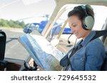 on board a chopper | Shutterstock . vector #729645532