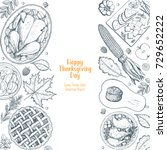 thanksgiving day top view... | Shutterstock .eps vector #729652222