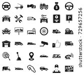 rent car icons set. simple... | Shutterstock . vector #729657256