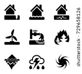 vector black icons set with... | Shutterstock .eps vector #729658126