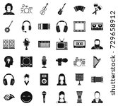 musical instrument icons set.... | Shutterstock . vector #729658912