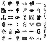 fitness life icons set. simple... | Shutterstock . vector #729660412