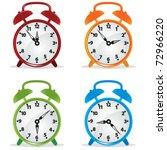 alarm clock. vector illustration | Shutterstock .eps vector #72966220