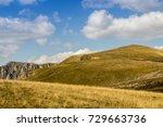 idyllic landscape of mountain... | Shutterstock . vector #729663736