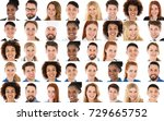 set of multi racial people from ... | Shutterstock . vector #729665752