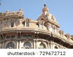 vintage buildings in europe | Shutterstock . vector #729672712