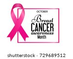 breast cancer awareness... | Shutterstock .eps vector #729689512