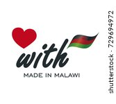 love with made in malawi logo... | Shutterstock .eps vector #729694972