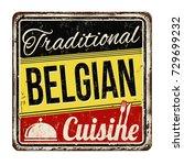 traditional belgian cuisine... | Shutterstock .eps vector #729699232