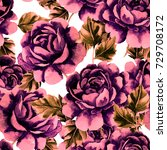 rose seamless pattern.... | Shutterstock . vector #729708172