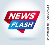 news flash arrow colored tag... | Shutterstock .eps vector #729709165