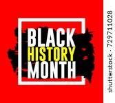 black history month logo vector ...   Shutterstock .eps vector #729711028
