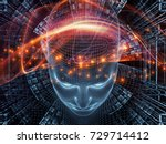 radiating mind series. 3d... | Shutterstock . vector #729714412