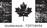 canada grunge old flag  black... | Shutterstock .eps vector #729718456