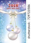 postcard with new year 2018 on... | Shutterstock .eps vector #729723586