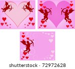three love cards | Shutterstock .eps vector #72972628