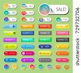 colorful website online shop...   Shutterstock .eps vector #729732706