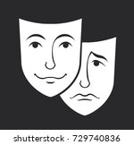 theater mask symbols vector set ... | Shutterstock .eps vector #729740836