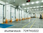 warehouse freezer | Shutterstock . vector #729741022