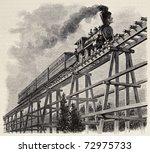 Old Illustration Of Train...