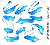 blue arrows. vector illustration | Shutterstock .eps vector #72977164