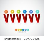 business infographic template.... | Shutterstock .eps vector #729772426