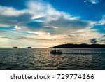 dramatic sunset color in... | Shutterstock . vector #729774166