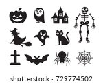 halloween icon  vector  | Shutterstock .eps vector #729774502