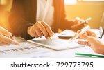three businessman investment... | Shutterstock . vector #729775795