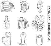 beer set | Shutterstock .eps vector #72978727