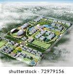 city. 3d render illustration   Shutterstock . vector #72979156