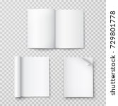 magazine with rolled white...   Shutterstock .eps vector #729801778