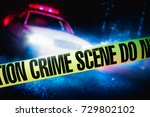 police car at a crime scene... | Shutterstock . vector #729802102