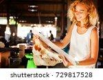 female paleontologist examining ... | Shutterstock . vector #729817528