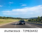 highway road through the middle ... | Shutterstock . vector #729826432