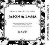 a wedding invite invitation... | Shutterstock .eps vector #729828646