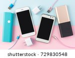 usb charging cables for... | Shutterstock . vector #729830548