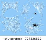 spider web silhouette arachnid... | Shutterstock .eps vector #729836812