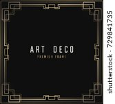 vector card. art deco style.... | Shutterstock .eps vector #729841735