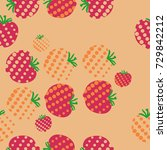 tomato seamless  halftone...   Shutterstock .eps vector #729842212