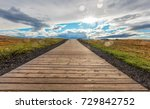 the road near gullfoss...   Shutterstock . vector #729842752