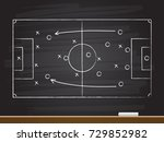 chalk hand drawing with soccer... | Shutterstock .eps vector #729852982